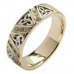 Ladies Diamond Comfort Fit Trinity Knot Wedding Ring
