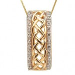 10k Gold Celtic Knot Pendant with Diamonds