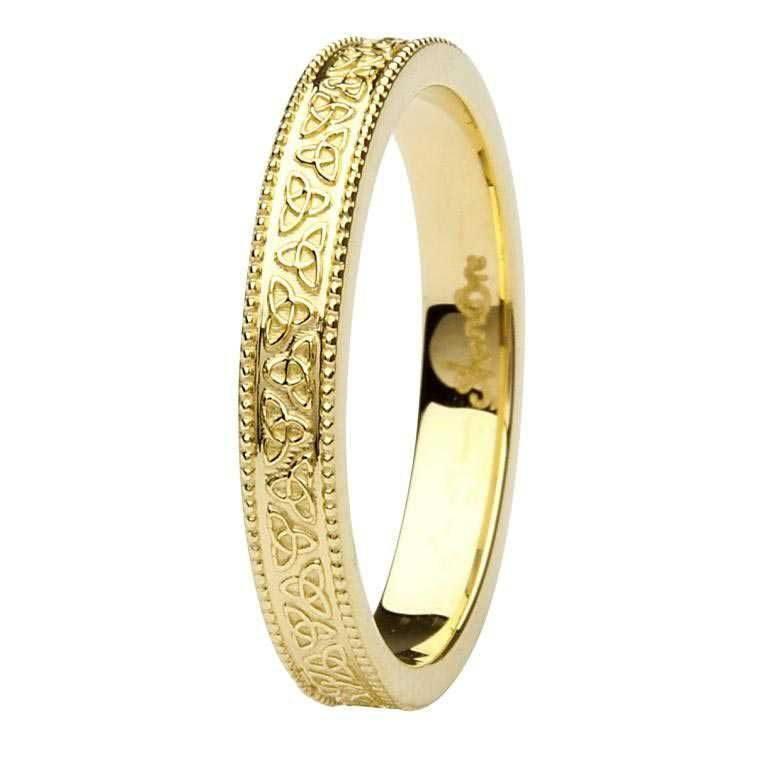 Ladies Gold Trinity Knot Wedding Ring