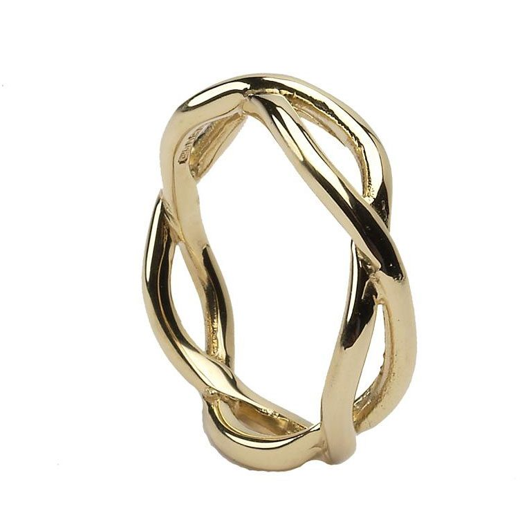 Gents Yellow Gold Infinity Wedding Band