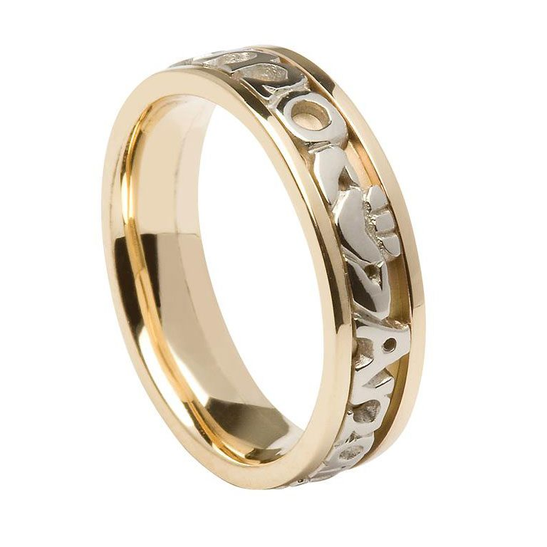 Gents Yellow Gold Signature Mo Anam Cara Wedding Ring