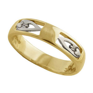 Yellow Gold Gents Claddagh Wedding Ring