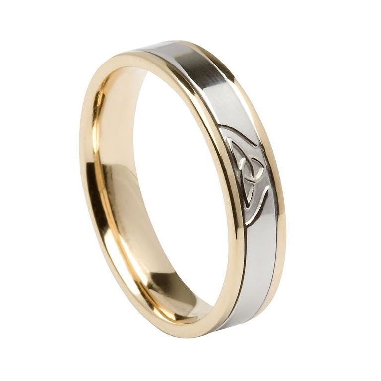 Gents Yellow Trinity Knot Wedding Ring