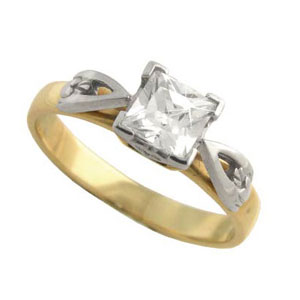 14k Yellow Diamond Set Claddagh Ring