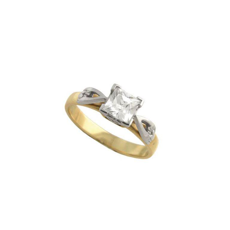 14k Yellow Diamond Set Claddagh Ring