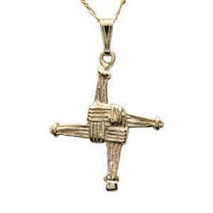 14k Saint Bridgets Cross Pendant
