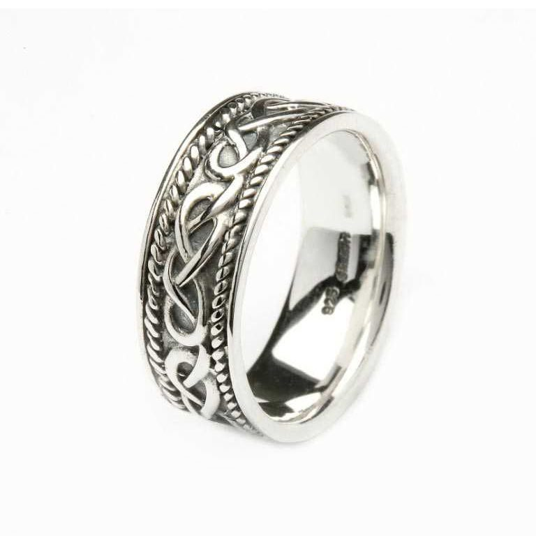 Silver Celtic Knot Gents Ring