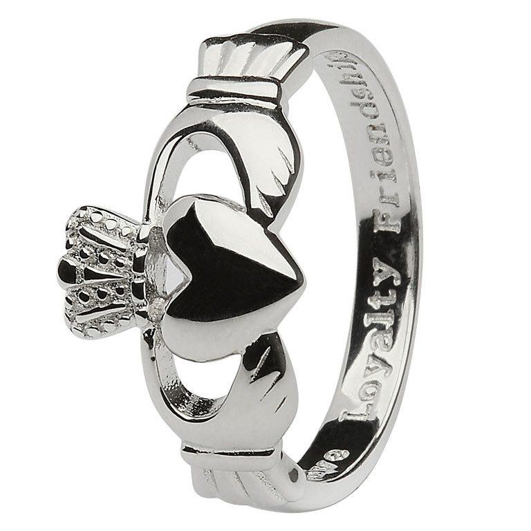 Gents Heavy Silver Claddagh 'Love Loyalty Friendship' Ring