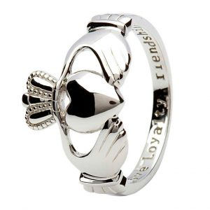 Silver Medium Claddagh 'Love Loyalty Friendship' Ring