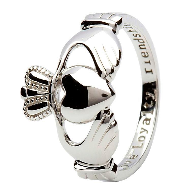 Silver Medium Claddagh 'Love Loyalty Friendship' Ring