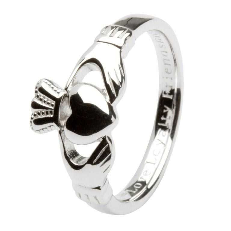 Gents Silver Claddagh 'Love Loyalty Friendship' Ring