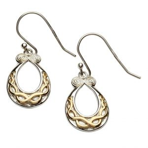 Silver & Gold Plating Knot & Spiral Earrings