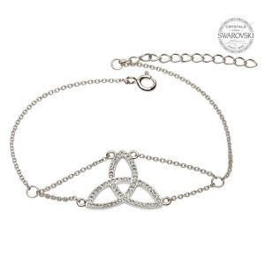 Trinity Knot Bracelet Adorned With Swarovski Crystals