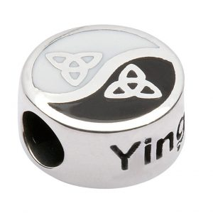 Ying and Yang Celtic Knot Charm