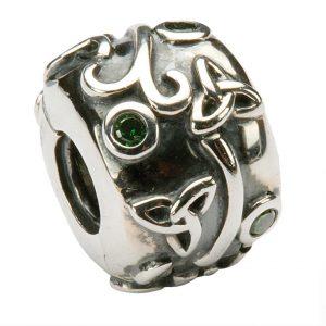 Tara's Diary Trinity Knot Charm with Gemstones