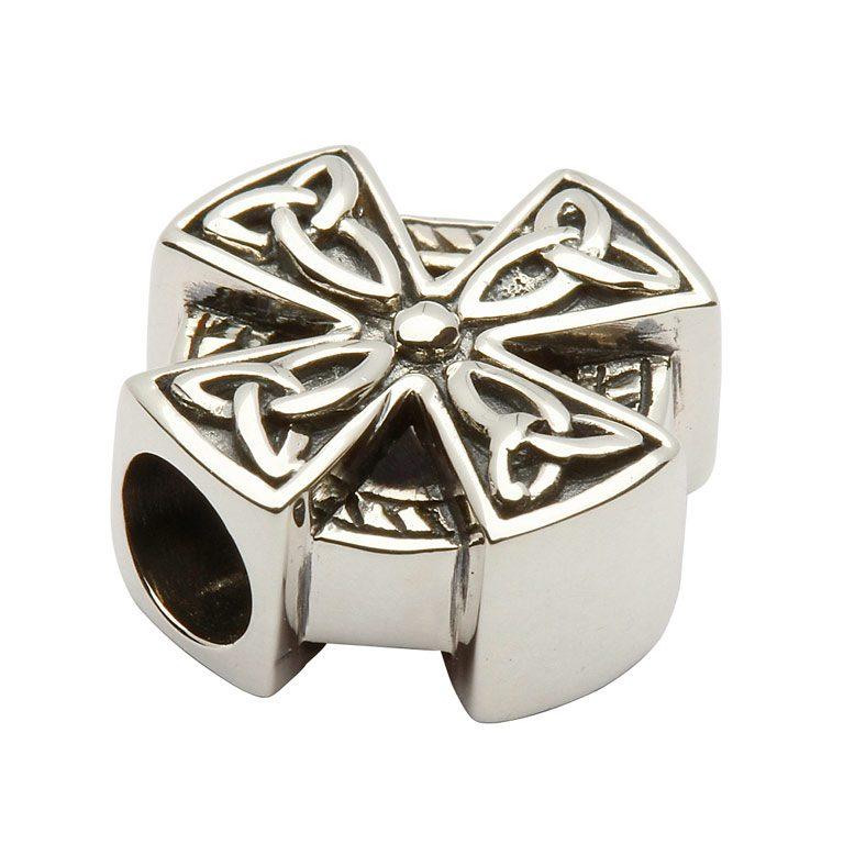 Celtic Cross Trinity Knot Charm